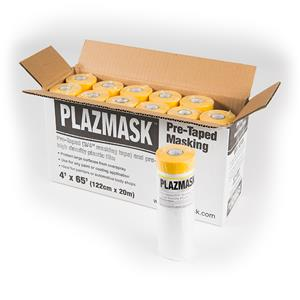 PlazMask Pre-Taped Masking Film, 4