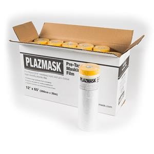 PlazMask Pre-Taped Masking Film, 12