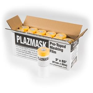 PlazMask Pre-Taped Masking Film, 3