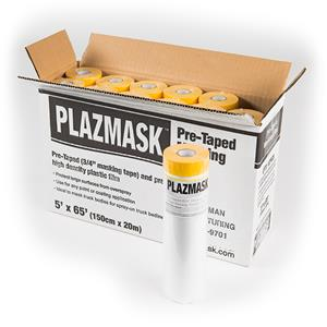 PlazMask Pre-Taped Masking Film, 5