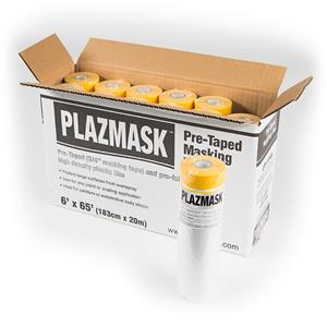 PlazMask Pre-Taped Masking Film, 6