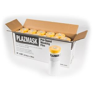 PlazMask Pre-Taped Masking Film, 9